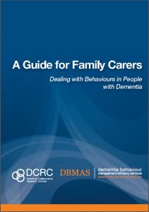 BPSD Guide for Family Carers cover NO box